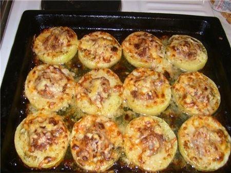 Кабачки с фаршем в духовке рецепт с фото пошаговый с сыром