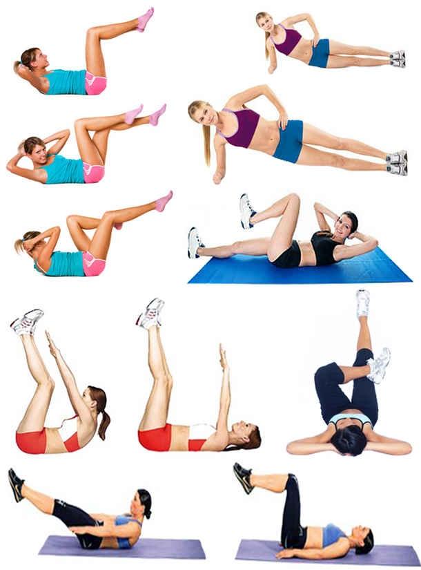 Упражнения чтобы убрать живот и бока не в домашних условиях