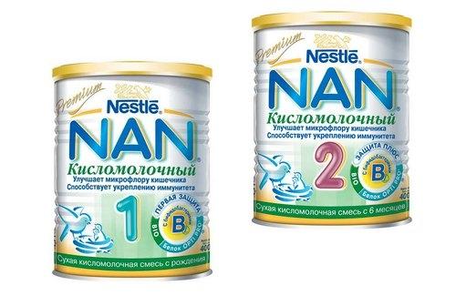 Кисломолочная смесь нан