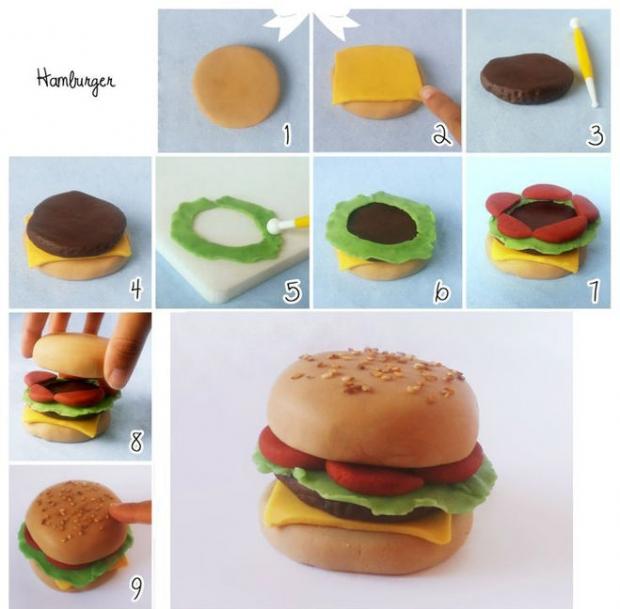 пятницу картинки еда для кукол из пластилина этом