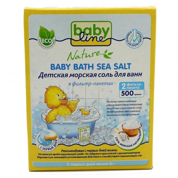 Ванны с морской солью для ребенка
